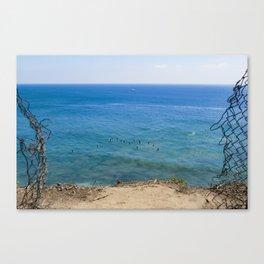 Malibu Surfing, Locals Only, Malibu California, Surf Photography, Surf Art, Surf Aerial Canvas Print