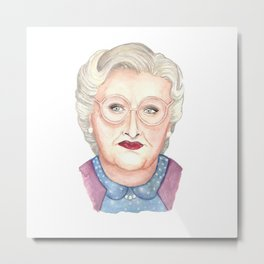Mrs Doubtfire Metal Print