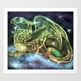 Cosmic Gryphon Art Print