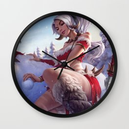 Snow Bunny Nidalee League Of Legends Wall Clock