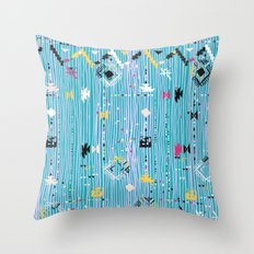 Ethnic pattern with native and tribal motif Throw Pillow