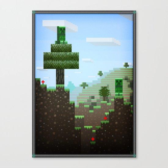 Pixel Art series 9 : Creep Canvas Print