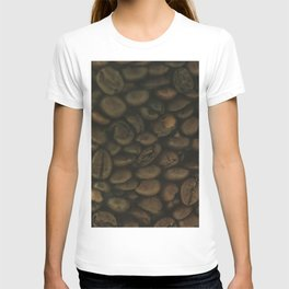 Coffee pattern, fine art photo, Coffeehouse, shops, bar & restaurants, still life, interior design T-shirt