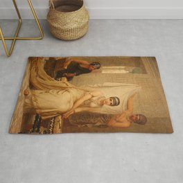 Esther by Edwin Long Rug