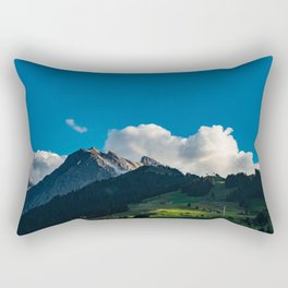 Summer picture of Switzerland Adelboden mountain village Rectangular Pillow