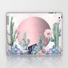 Desert Sun + Gemstones Rose Gold Pink Watercolor Laptop & iPad Skin