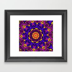 Lovely Healing Mandalas in Brilliant Colors: Black, Orchid, Yellow, Royal Blue and Pink Framed Art Print