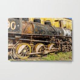 Derelict Train Metal Print