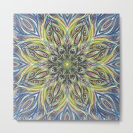 Colorful Center Swirl Metal Print