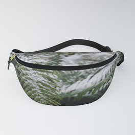 Fern Forest Winter Pacific Northwest Snow III - Nature Photography Fanny Pack