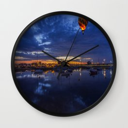 Harbour Night Flight Wall Clock