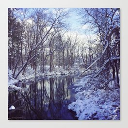 Blue Ice II Canvas Print