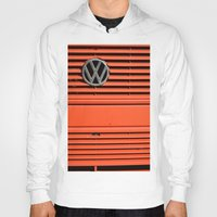 volkswagen Hoodies featuring Red Volkswagen by Marieken