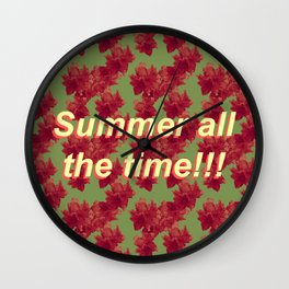 Summer all the Time Wall Clock