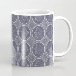 Grisaille Charcoal Blue Grey Neo-Classical Ovals Coffee Mug