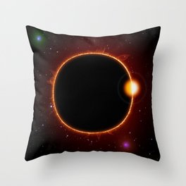 Solar Eclipse Sun Moon Space Stars Astronomy Throw Pillow