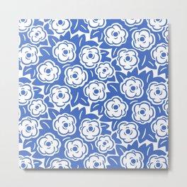 Flower Bouquets Blue 222 Metal Print