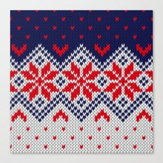 Winter knitted pattern 11 Canvas Print