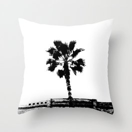 Black & White Palm Throw Pillow