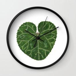Cyclamen leaf Wall Clock