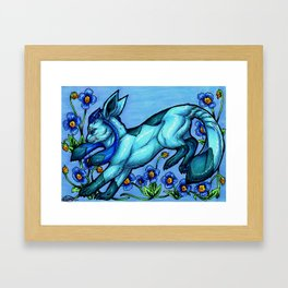 Evolve the Rainbow - Glaceon Framed Art Print