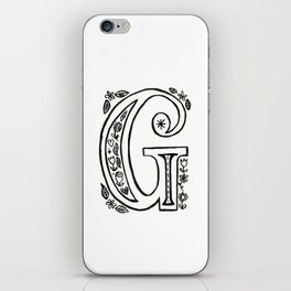 g is for iPhone Skin