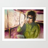 dylan Art Prints featuring Dylan by chemilia