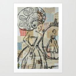 In the mirror  Art Print