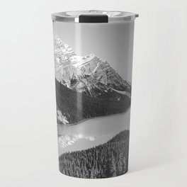 Landscape Photography Peyto Lake | Black and white Travel Mug