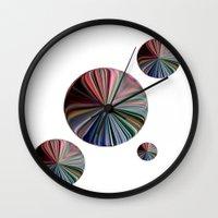 circle Wall Clocks featuring circle by  Agostino Lo Coco