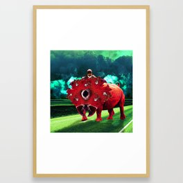 The future is a different kind of green. Framed Art Print
