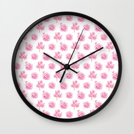 Rose Pop Pattern Wall Clock