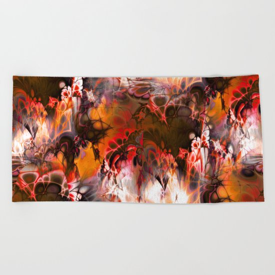 Marshmellow Skies (warm earth tones) Beach Towel