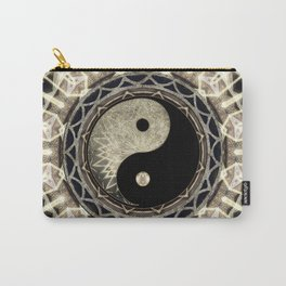 Yin Yang Geometry Mandala V1 Carry-All Pouch