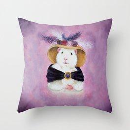 Beatrice Buttercream the Victorian Guinea Pig Throw Pillow