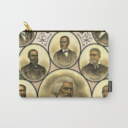 Vintage 1883 African American 'Distinguished Men of Color Poster by A. Muller & Co. Carry-All Pouch