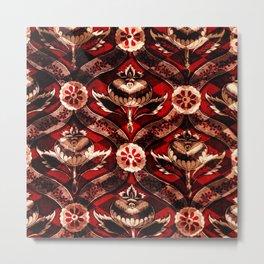 Red Devil Checkerboard Pattern Variation Metal Print