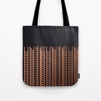 cunt Tote Bags featuring CUNT by Beatricepl