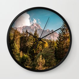 Summer has arrived in the italian alps Wall Clock
