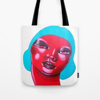 bubble Tote Bags featuring BUBBLE by Zelda Bomba