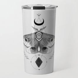 Metaphys Moth - Gray Travel Mug