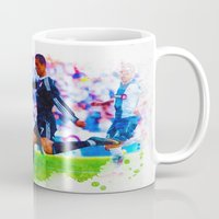 ronaldo Mugs featuring The Buzz from Cristiano Ronaldo by Don Kuing