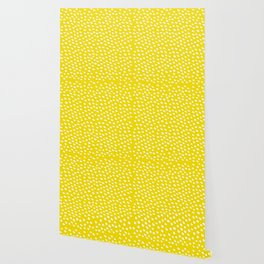 Brush Dot Pattern Yellow Wallpaper
