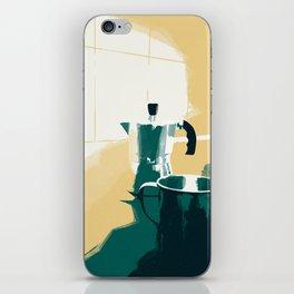 morning coffee iPhone Skin