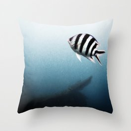 Lonely Fish Throw Pillow