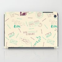 tegan and sara iPad Cases featuring Doodlethrob (Tegan and Sara) creme by MR Kent