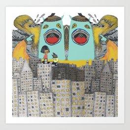 Monster Land Art Print