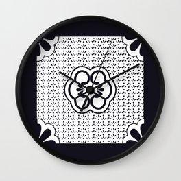 Japanese design flower pattern Wall Clock