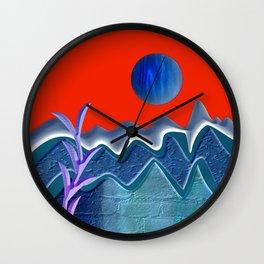 Mountain illustration Wall Clock