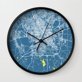 SAN ANTONIO City Map - TEXAS US | Blue | More Colors, Review My Collections Wall Clock